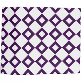 White and Purple Diamond Pattern Binders