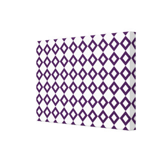 White and Purple Diamond Pattern Canvas Print