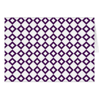 White and Purple Diamond Pattern Card