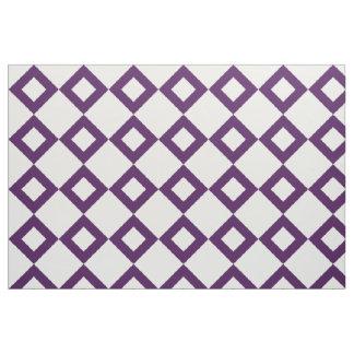 White and Purple Diamond Pattern Fabric