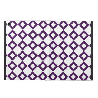 White and Purple Diamond Pattern iPad Air Cover