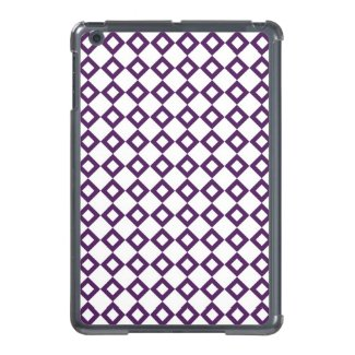 White and Purple Diamond Pattern iPad Mini Covers