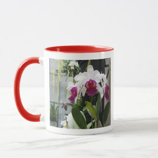 White and Purple Flower Mug