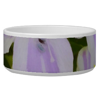White and purple flowers bowl