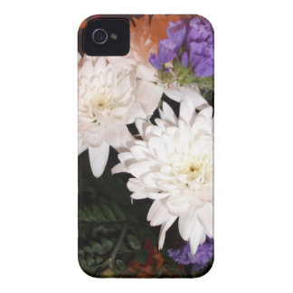White and Purple Flowers iPhone 4 Cover