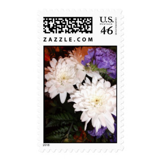 White and Purple Flowers Postage