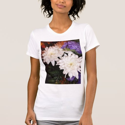 White and Purple Flowers T-Shirt