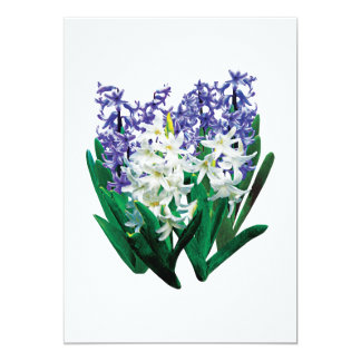 White and Purple Hyacinths Invites