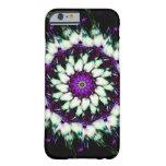 White and Purple Kaleidoscope Mandala Barely There iPhone 6 Case