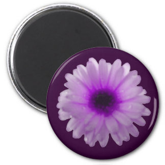White and Purple Marigold Magnet