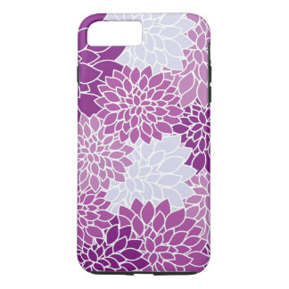 White and Purple Modern Floral iPhone 7 Plus Case