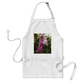 White and purple orchids adult apron