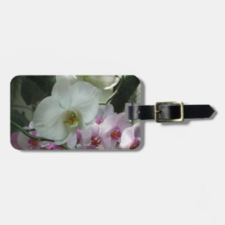 White and Purple Orchids Luggage Tag