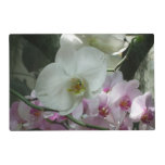 White and Purple Orchids Placemat