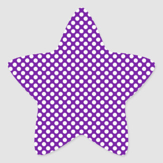 White and Purple Polka Dots Stickers
