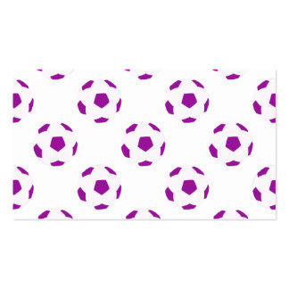 White and Purple Soccer Ball Pattern Business Card