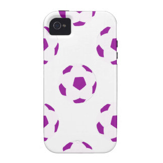 White and Purple Soccer Ball Pattern iPhone 4 Covers