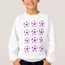White and Purple Soccer Ball Pattern Sweatshirt