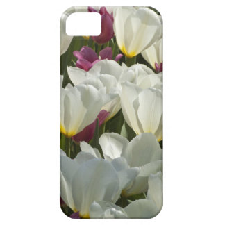 White and Purple Tulips iPhone SE/5/5s Case