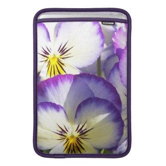 "White and Purple Violas 11"" MacBook Sleeve"