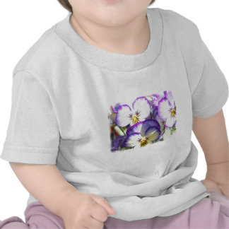 White and Purple Violas Baby T-Shirt