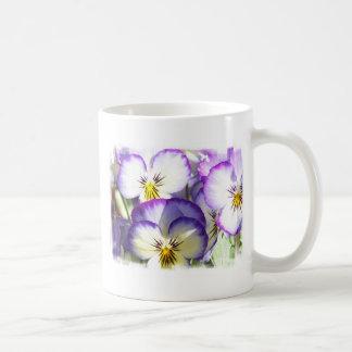 White and Purple Violas Coffee Mug