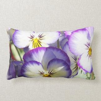 White and Purple Violas Pillows