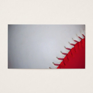 White and Red Baseball / Softball Business Card