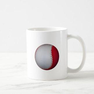 White and Red Baseball / Softball Classic White Coffee Mug