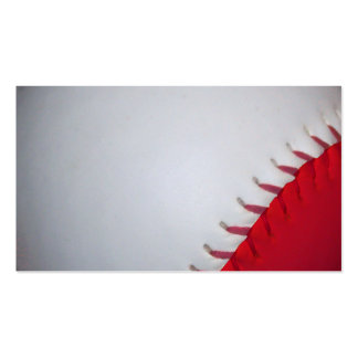 White and Red Baseball / Softball Double-Sided Standard Business Cards (Pack Of 100)