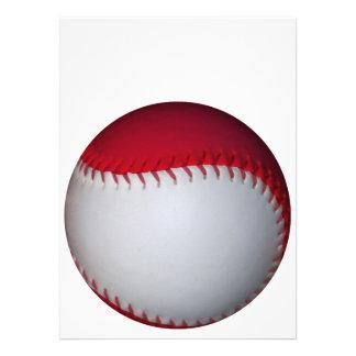White and Red Baseball / Softball Invites