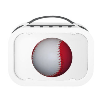 White and Red Baseball / Softball Lunchbox