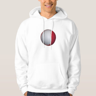 White and Red Baseball / Softball Pullover