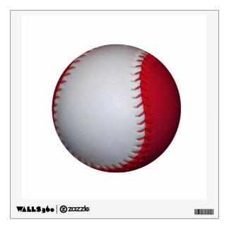 White and Red Baseball / Softball Wall Decal
