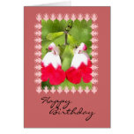 White and Red Bleeding Hearts, Birthday Greeting Card