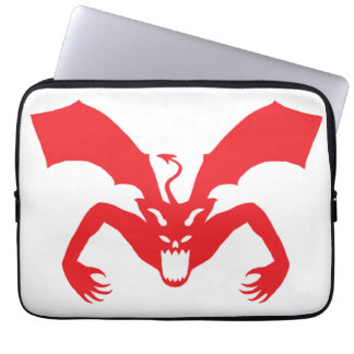 White And Red Devil Computer Sleeves