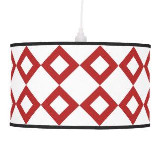 White and Red Diamond Pattern Hanging Lamp