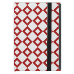 White and Red Diamond Pattern iPad Mini Case