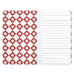 White and Red Diamond Pattern Journals