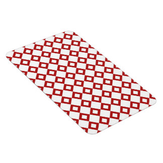 White and Red Diamond Pattern Magnet