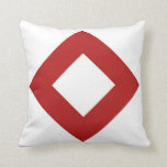 White and Red Diamond Pattern Pillows