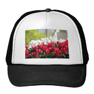 White And Red Flowers Trucker Hat