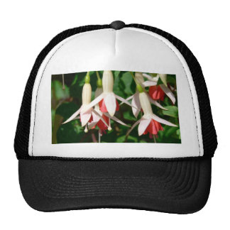 White And Red Hanging Flowers Trucker Hat
