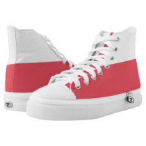 White and Red II Two-Tone Hi-Top