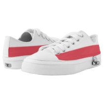 White and Red II Two-Tone Lo-Top