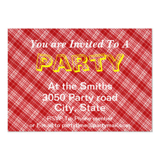 White And Red Plaid Diagonal Fabric Design Card