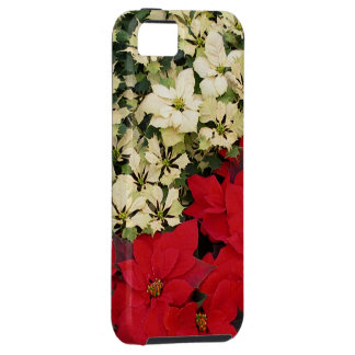 White and Red Poinsettias I Holiday + Christmas iPhone SE/5/5s Case