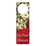 White and Red Poinsettias I Holiday Floral Door Hanger