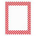 White and Red Polka Dot Customized Letterhead