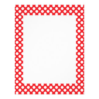 White and Red Polka Dot Letterhead